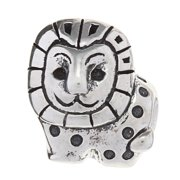 Metal Marketplace International Sterling Silver Lion Charm Bead