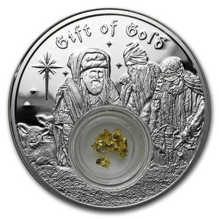 2017 Niue 1 oz Silver $2 The 3 Wise Men Gift of Gold Proof Coin