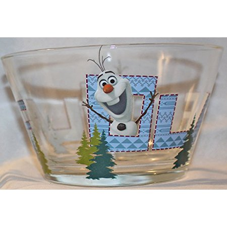 Disney Frozen Olaf Character Glass Cereal Bowl, - Cereal Characters