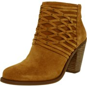 Jessica Simpson Women's Claireen Suede Honey Brown Ankle-High Suede Boot - 9.5M