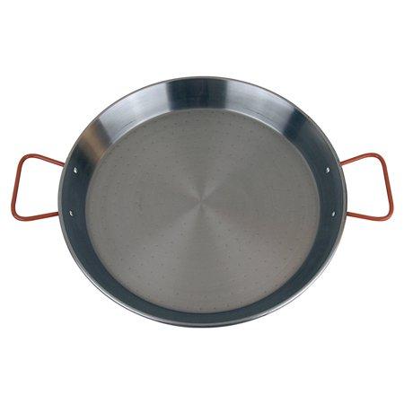 World Cuisine Stainless Steel Paella Pan - Magefesa Pizza and Paella 17 in. Enamelled on Steel Pan