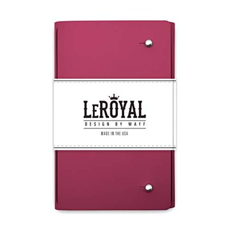 "WAFF, LeRoyal Recycled Leather Journal, 7"" x 5.3"" x 1"" - Pink - image 1 of 1"