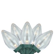 Brite Star 100ct LED C7 Commercial Length Christmas Lights on Spool Warm White - 41.17' Green Wire