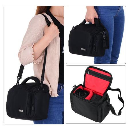 CADEN Padded Camera Bag Zippered Design Shockproof Black for Nikon Canon Sony DSLR Cameras Lenses Small Size - image 4 de 7