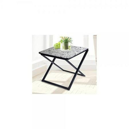 Olee Sleep Pearl Granite Top Metal Frame Coffee Table Tea Table