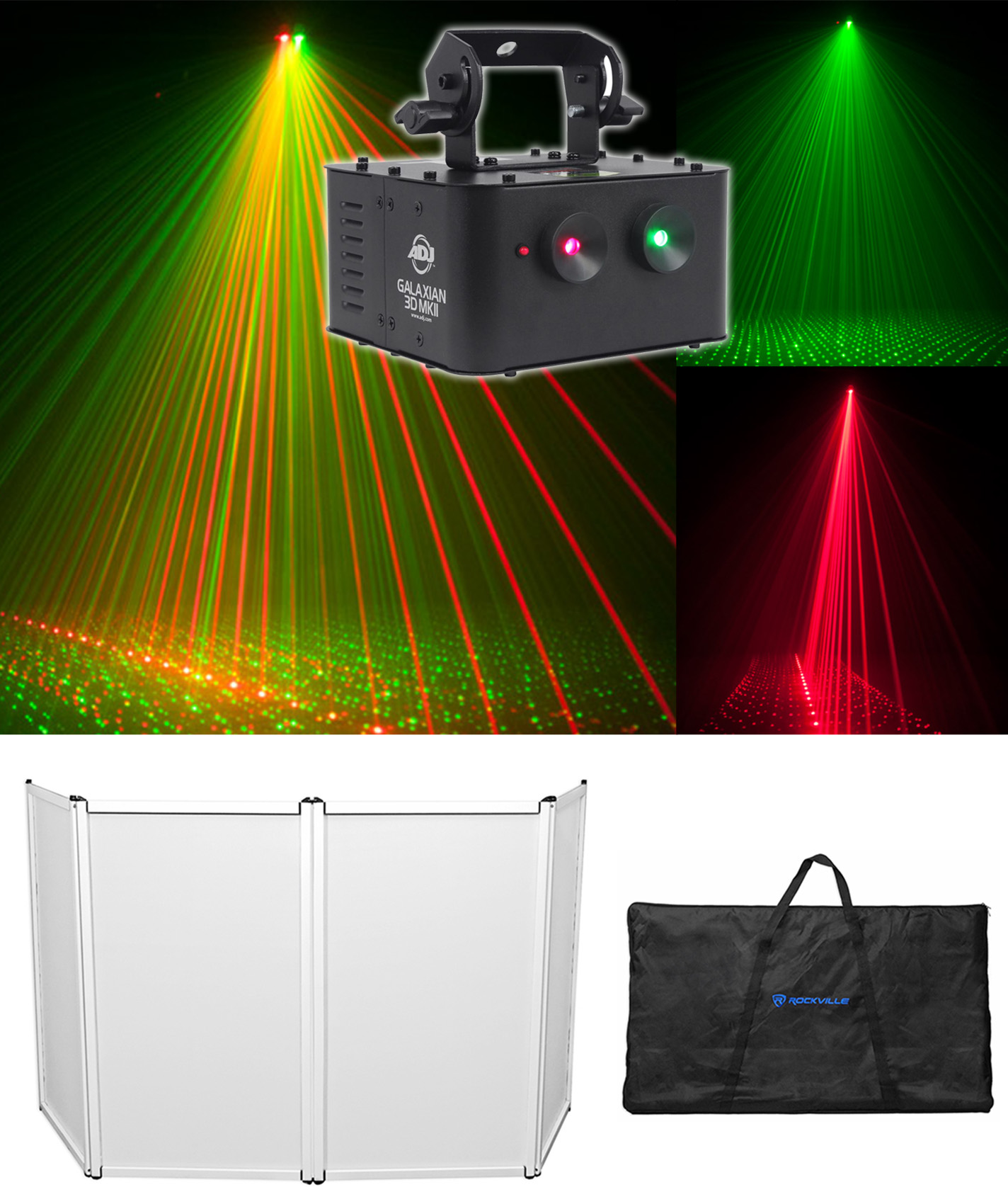 American DJ GALAXIAN 3D MKII Dual (Red Green) Laser Effect Club Light + Facade by American DJ