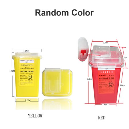 1PCS Tattoo Medical Plastic Sharps Container Biohazard Needle Disposal 1L Waste Box For Tattooing Accessories