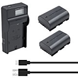 Bonacell 2 Pack 2600mAh Replacement LP_E6 Battery and Cha...