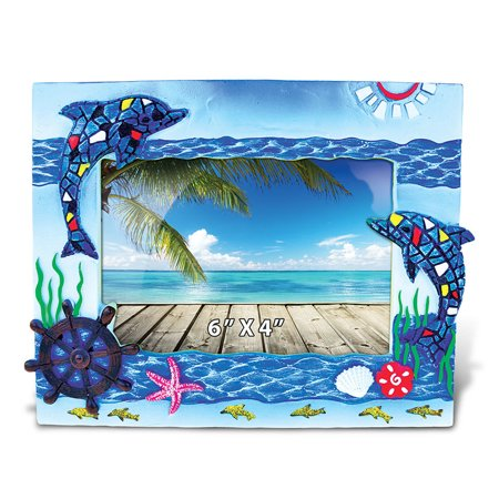 Nautical Photo Frame Dolphins Mosaic Photo Frame 4