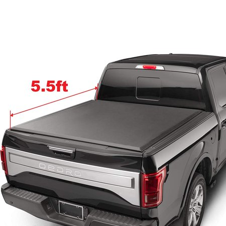 oEdRo TRI-FOLD Truck Bed Tonneau Cover Compatible 2015-2019 Ford F-150 | Styleside 5.5'