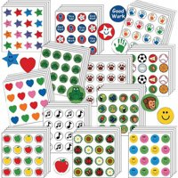 """Shapes Etc Assorted Incentive Stickers Bargain Bag, 0.38"""", Assorted Colors, 3456pk"""