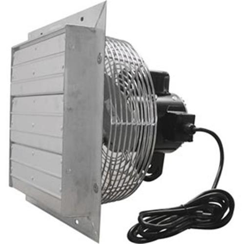 TekSupply 111934 ValuTek Direct Drive Exhaust Fan w/Shutters 12'' - 3 Speed