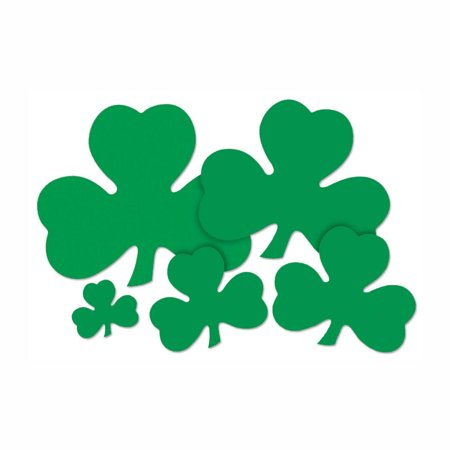 Club Pack Of 48 St  Patricks Day Shamrock Cutout Party Decorations 9