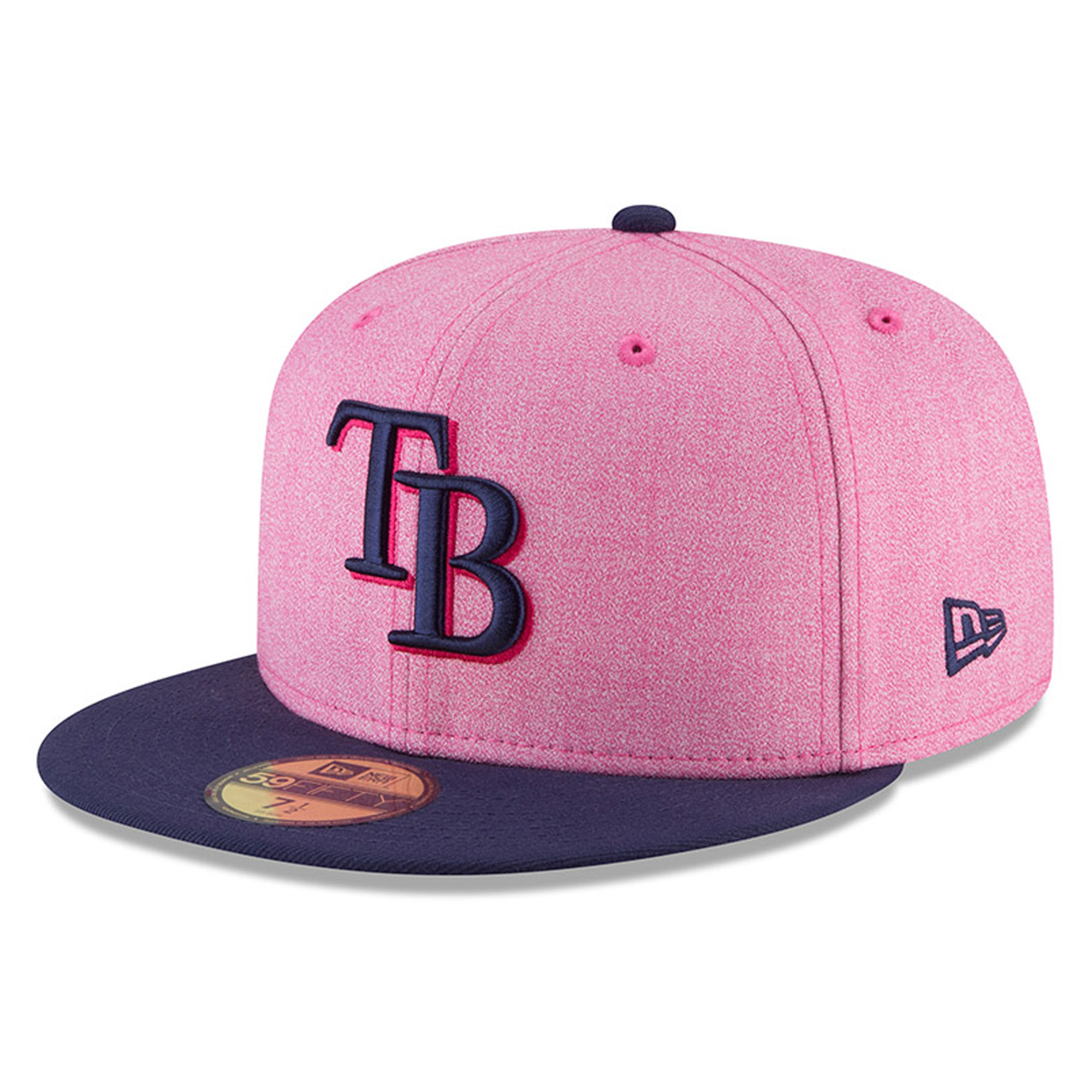 Tampa Bay Rays New Era 2018 Mother's Day On-Field 59FIFTY Fitted Hat - Pink/Blue