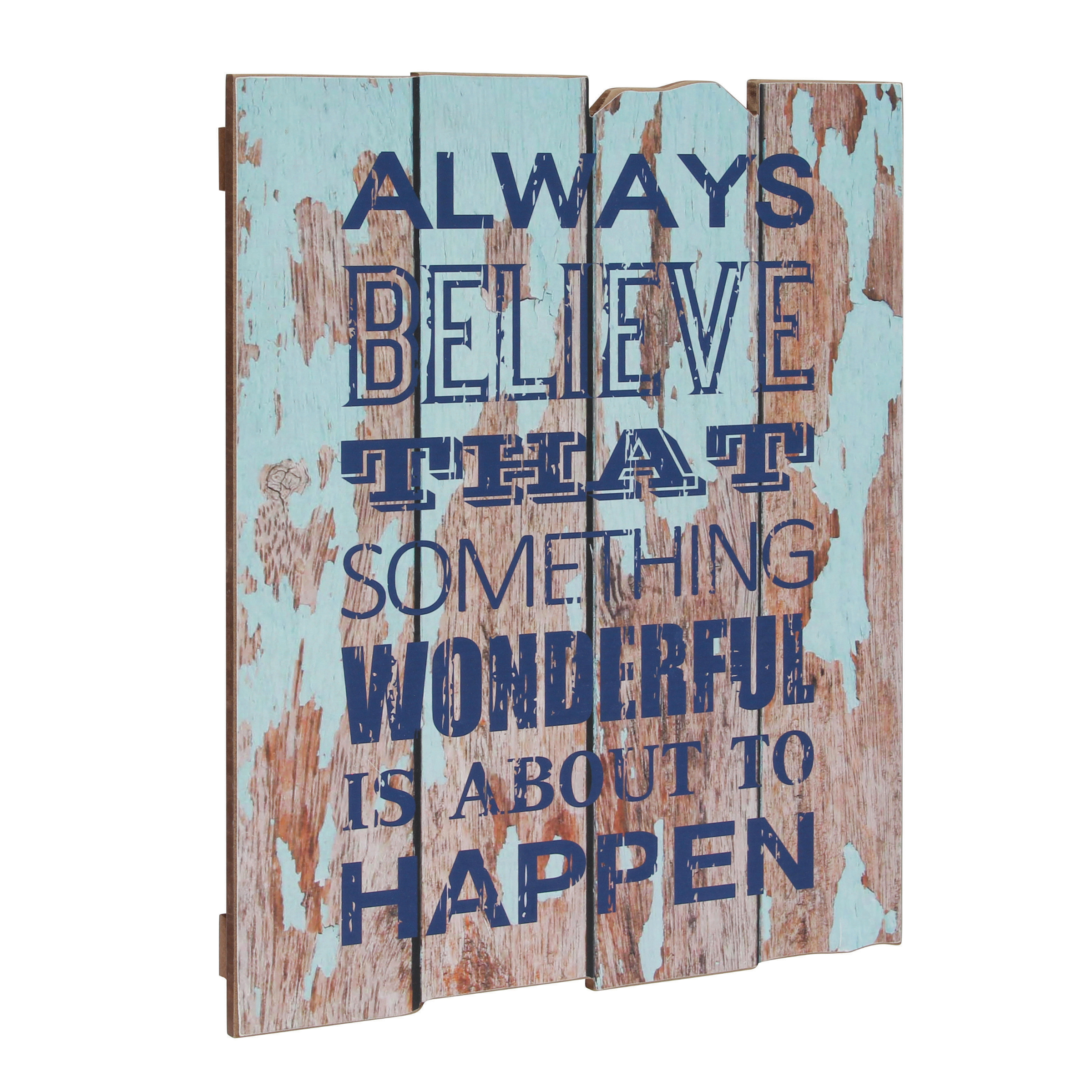 """Stonebriar Collection """" Always Believe that Something Wonderful is About to Happen"""" Wall Plaque"""