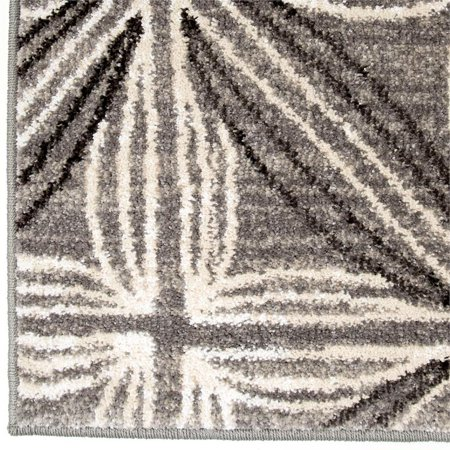 Daisy Contemporary 5x8 Area Rug in Grey/Cream - image 1 de 5
