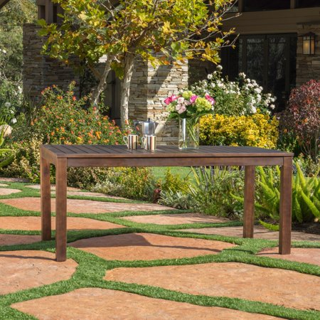 Maycon Acacia Wood Patio Dining Table