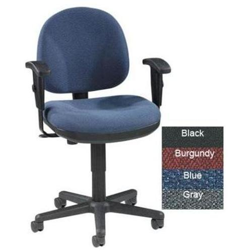 "Lorell Millenia Pneumatic Adjustable Task Chair - Blue Seat - Back - Frame - 24"" X 24"" X 38"" Overall Dimension (LLR80006)"