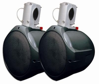 MCM Custom Audio 60-10021 Marine Wakeboard Speaker Pair 6.5 Inch Two Way Black by MCM CUSTOM AUDIO