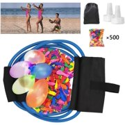 TOYIFY Water Balloon Launcher with 500 Water Balloons , 500 Yards Water Balloon Slingshot / Cannon / Launcher with 2 Refill Kits Fight Pool Party Toy, 3 Person Giant Angry Birds Summer Beach Games