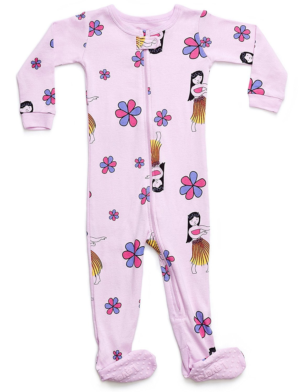 Leveret Organic Cotton Hula Footed Pajama Sleeper 18-24 Months