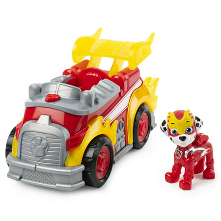 PAW Patrol, Mighty Pups Super PAWs Marshall?s Deluxe Vehicle with Lights and Sounds