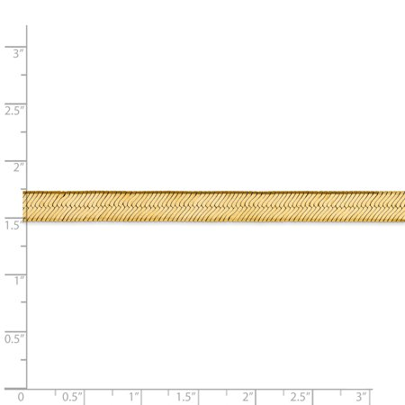 14K Yellow Gold 6.5mm Silky Herringbone Chain - image 4 of 5