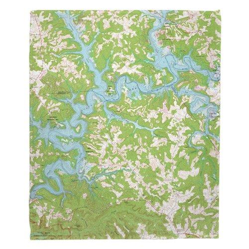 Breakwater Bay Rasco Nolin Lake, KY (1966) Topo Map Throw