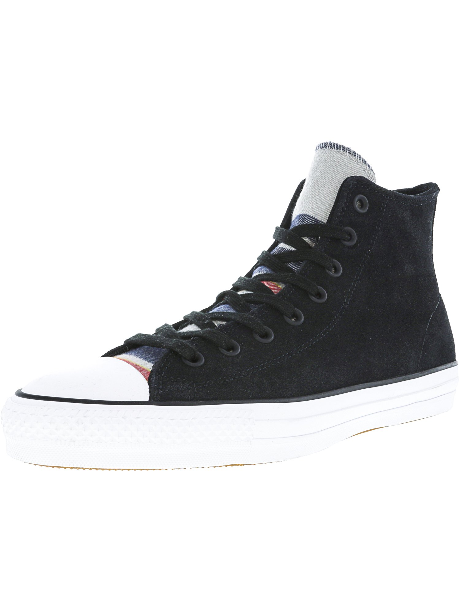 2a4a0abdf714 Converse Chuck Taylor All Star Pro Blanket Stripe Hi Black   White High-Top  Suede Fashion Sneaker - 12M 10M