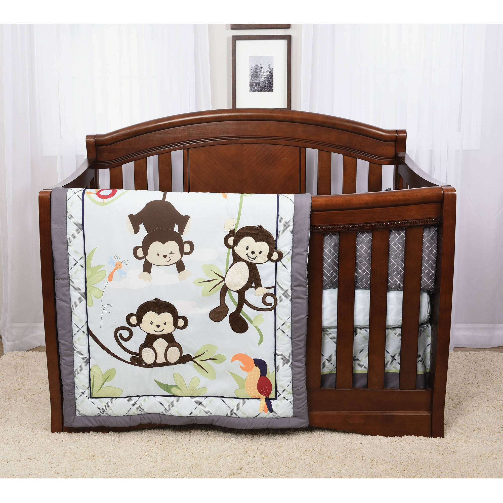 Baby's First by Nemcor Hangin' Around 4-Piece Crib Bedding Set