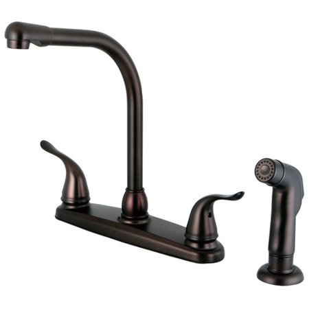Kingston Brass Yosemite Double Handle Kitchen Faucet with Side