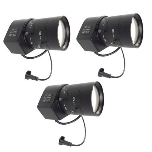 Evertech 3 Pcs 6-60mm Varifocal Auto Iris Lens F1.6 for Professional Cctv Security Cameras