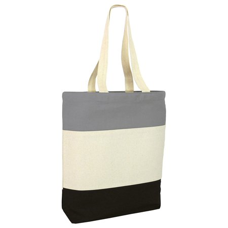 Tricolor Heavy Canvas Tote Bag (Trendy Canvas Tote)