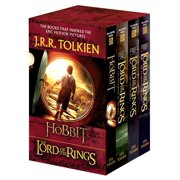 J.R.R. Tolkien 4-Book Boxed Set: The Hobbit and The Lord of the Rings (Movie Tie-in) : The Hobbit, The Fellowship of the Ring, The Two Towers, The Return of the King