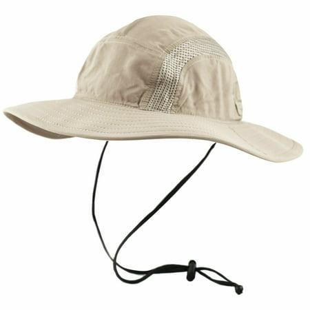 Men's Crushable Safari Bucket Hat UPF-50 Sun Protection Mesh Crown, Neck -