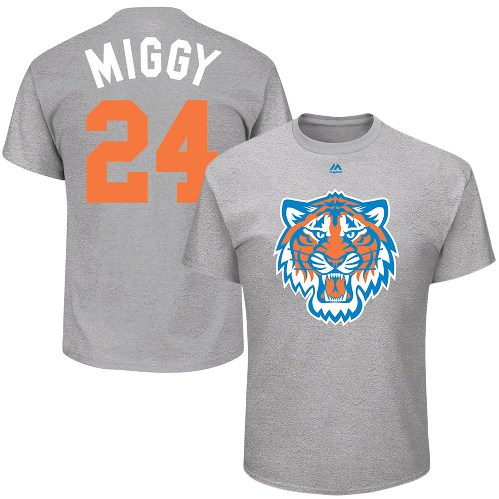 "Miguel Cabrera ""Miggy"" Detroit Tigers Majestic 2017 Players Weekend Name & Number T-Shirt - Gray"