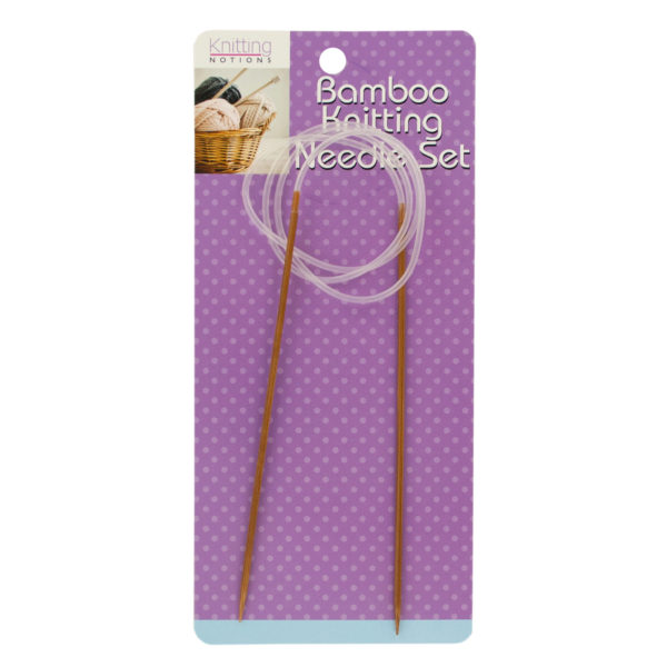 Circular Bamboo Knitting Needle Set (Pack Of 24)