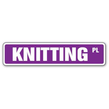KNITTING Street Sign kit needles boards looms circle | Indoor/Outdoor | 24