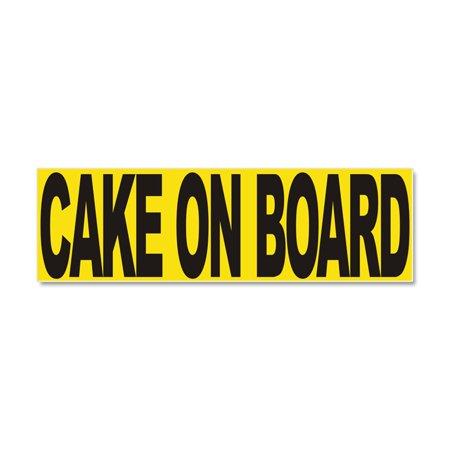 CafePress - Cake On Board -- - Car Magnet 10 x 3 - Blank Car Magnets