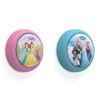 Philips Disney Princess and Disney Frozen Battery-Powered LED Push Night Light