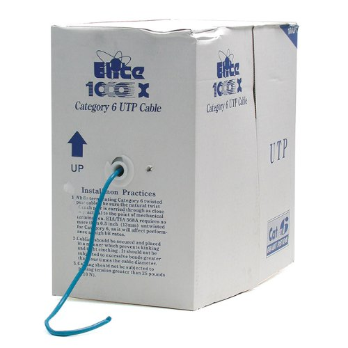 StarTech.com 1000' Roll of Blue CMR Cat6 Solid UTP Bulk Cable