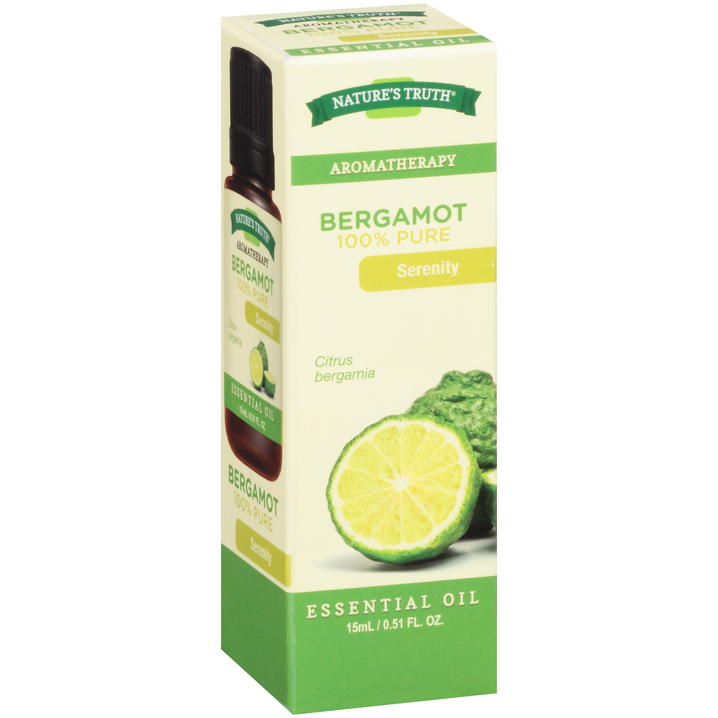 Nature's Truth Aromatherapy Bergamot Essential Oil, 0.51 Fl Oz
