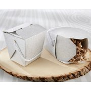 Silver Glitter Take Out Box (Set of 12)