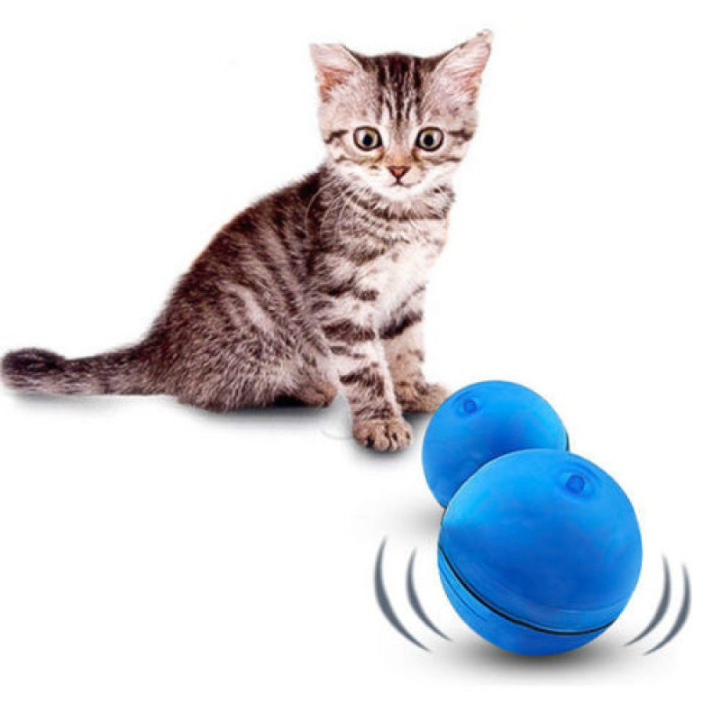 Blue LED Laser Light Electronic Rolling Ball Perfect Cat Toy Keep Your Pet Busy by