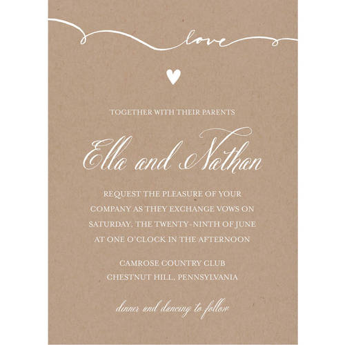 Walmart Wedding Gift Ideas: Script Love Standard Wedding Invitation