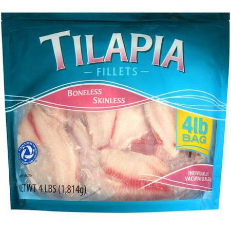Frozen Tilapia Fillets 4 0 Lb Walmart Com
