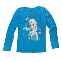 Disney Frozen Elsa Magic Girls Blue Long Sleeve T-Shirt | XL