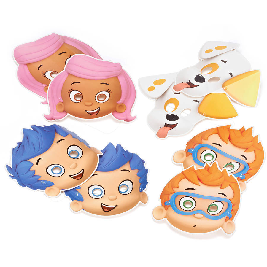 Bubble Guppies Party Masks, 8 Count, Party Supplies