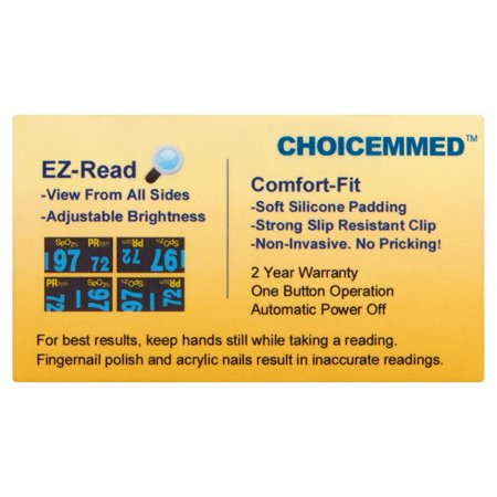 ChoiceMMed OxyWatch C20SM Fingertip Pulse Oximeter - Best