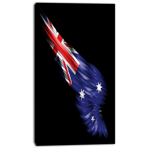 Design Art 'Wing with Australian Flag' Graphic Art on Wrapped Canvas